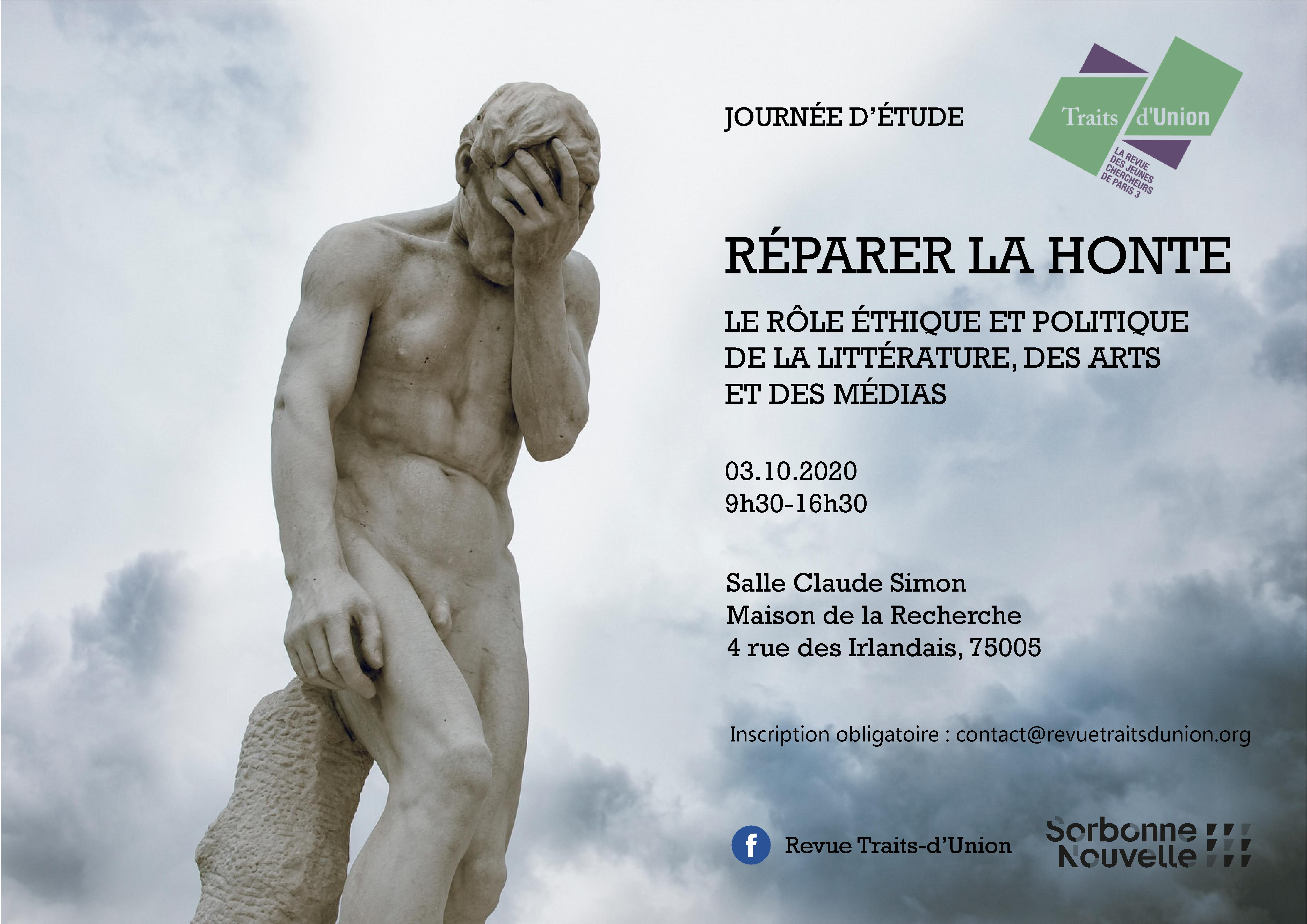 Journée d'étude Réparer la honte – 3 octobre 2020